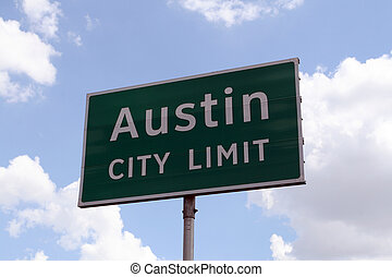 Austin City Limit - An Austin City Limit road sign close up