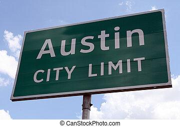 Austin City Limit - An Austin City Limit road sign close up.
