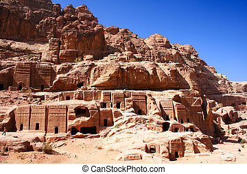 rock city Petra in Jordan - fantastic rock city Petra in...
