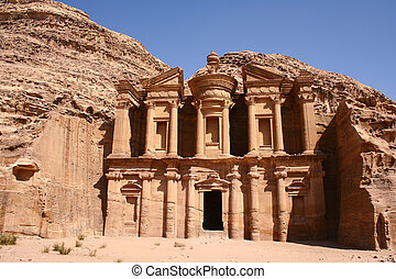 monastery in rock city Petra - this is the incredible...