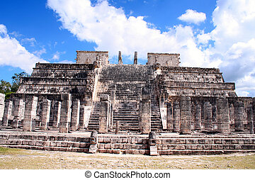ruins of chichen itza Mexico - these are the ruins of...