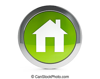 House icon with highlight - Eco house emblem isolated on...
