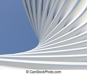 Abstract shapes background. Modern architectural conceptual...