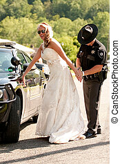 A bride is arrested on her wedding day