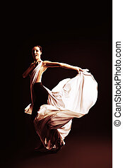 dancing art - Art fashion photo of a beautiful woman dancing...