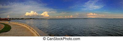 Cienfuegos bay panorama, cuba - Panoramic view of Cienfuegos...