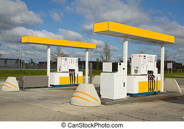 gas station - a tank station with the sky as background