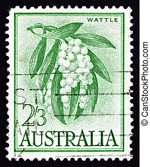Postage stamp Australia 1959 Golden Wattle, Tree - AUSTRALIA...