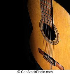 acoustique, guitare, fond