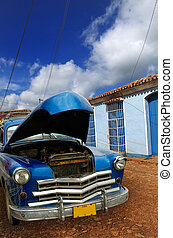 Oldatimer in Trinidad, cuba - A view of vintage classic car...