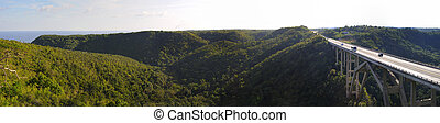Bridge on Yumuri valley - cuba - Panoramic view of the...