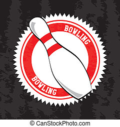 bowling seal over vintage background vector illustration