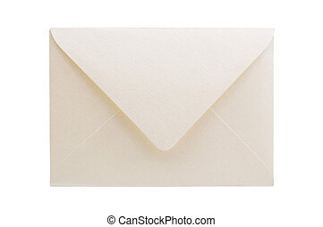 Envelope isolated on white background, studio shot.