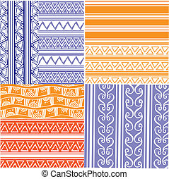 geometrical patterns - set of seven monochrome geometrical...