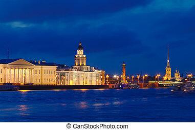View of St. Petersburg in night - View of St. Petersburg....
