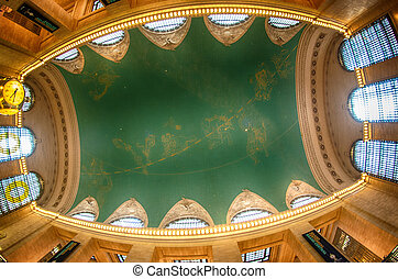 The constellation ceiling of Grand Central Terminal, New...