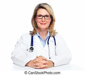 女, 医者