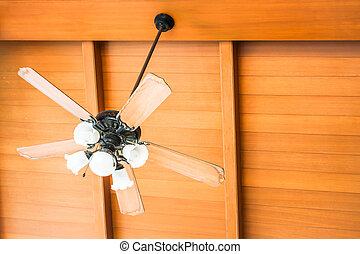 Beautiful hanging ceiling fan of oriental house