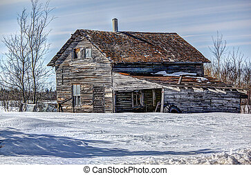 Forgotten Homestead - Prairie winter homestead