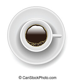 cup of coffee - colorful illustration with cup of coffee for...