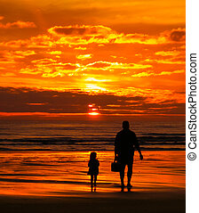 Beach Sunset with Dad