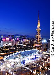 Nagoya Japan Cityscape - Nagoya, Japan skyline at the...