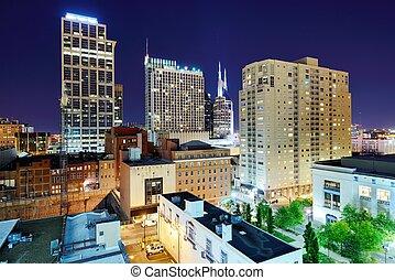 Nashville Tennessee - Nashville, Tennessee cityscape at...