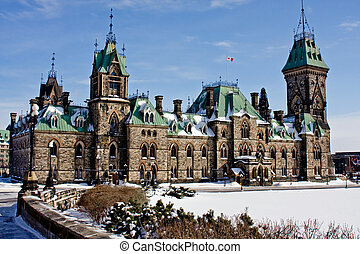 Parliament Hill Architecture - View of Federal Goverment...