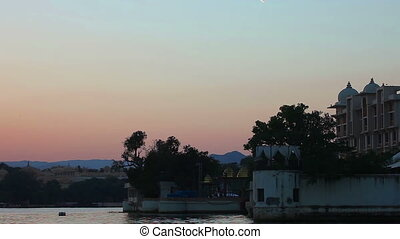 Evening sky - View of evening sky, Udaipur, India