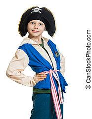 Cute boy dressed as pirate