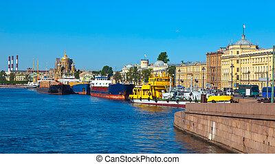 Lieutenant Schmidt Embankment St. Petersburg, Russia -...