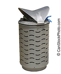 modern public rubbish bin stylish made from stainless steel