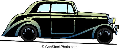 vintage retro automobile - Vector illustration vintage retro...