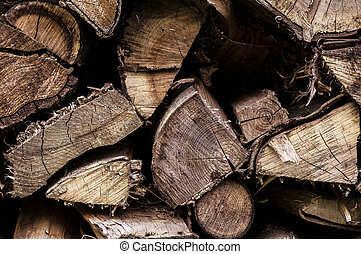 Firewood 004-130427 - cut firewood stacked to dry in the...