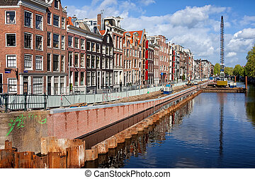 Prinsengracht Canal in Amsterdam - City of Amsterdam,...