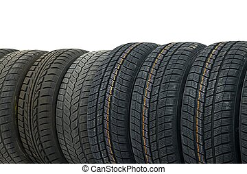 Tyres - Row of car tyres
