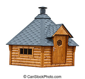 Timber garden sauna building