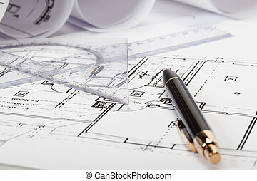 Architecture blueprints, Selective focus
