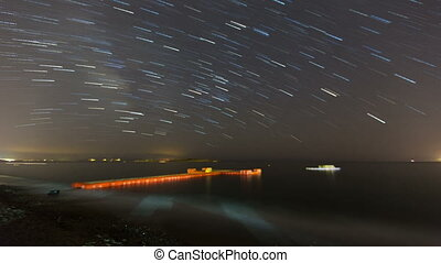 time lapse star trials 1 - time lapse stars on the sea