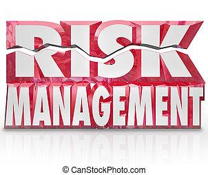 Risk Management 3d Words Reducing Danger Minimize Liability...