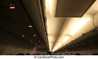 airplain 2 - passengers in the airplane cabin