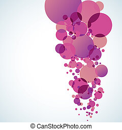 Abstract colored background with circles. EPS 10 vector file...