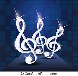 Dancing treble clef
