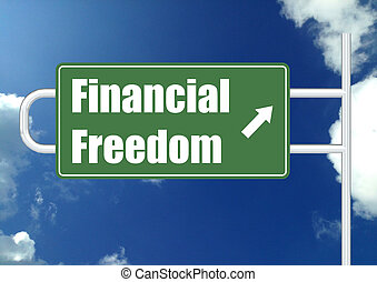 Financial freedom with sky - Hi-res original 3d-rendered...