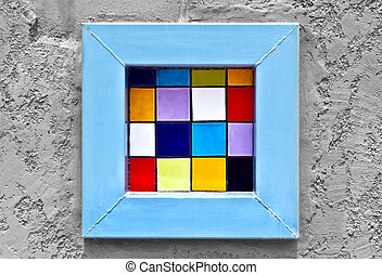 colorful window pop art abstract