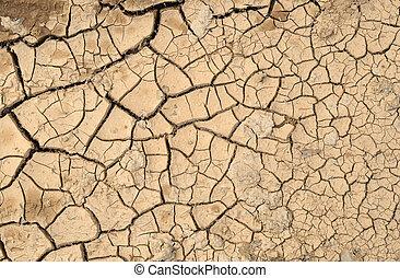 Natural cracked mud.