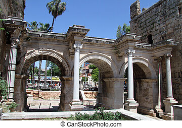 Gate of Adrian in Antalya, Turkey