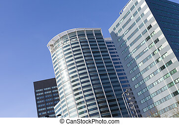 modern office building in the business district of Rotterdam