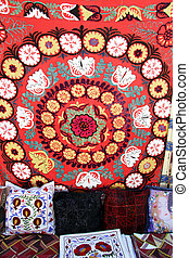 Turkish carpets - Carpets inside traditional turkish house,...