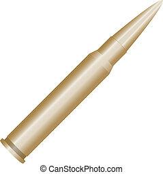 Bullet for a Kalashnikov - Blank cartridge from...